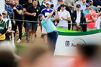 Russell Knox (SCO) on the 11th tee during the 3rd round of the Waste Management Phoenix Open, TPC Scottsdale, Scottsdale, Arisona, USA. 02/02/2019.<br /> Picture Fran Caffrey / Golffile.ie<br /> <br /> All photo usage must carry mandatory copyright credit (&copy; Golffile | Fran Caffrey)