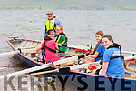 Mike Fleming loads up the Killorglin u14 crew of Hannah Joy, Allanah Doolan, Niamh Coffey  and Grace O'Grady at the Cromane Regatta on Sunday