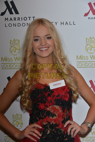 Miss Sweden  Olivia ASPLUND<br /> photocall for Miss World 2014 contestants in central London, on November 25, 2014. This year's Miss World contest will take place in London on December 14, 2014<br /> CAP/PL<br /> &copy;Phil Loftus/Capital Pictures
