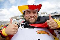 A Germany fan in fancy dress