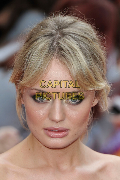 "LAURA HADDOCK.""The Inbetweeners Movie"" UK premiere, Vue West End cinema, Leicester Square, London, England..August 16th, 2011.headshot portrait off the shoulder eyeshadow smkokey eyes make-up .CAP/MAR.© Martin Harris/Capital Pictures."