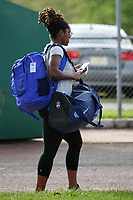 Piscataway, NJ - Saturday May 27, 2017: Kayla Mills  before a regular season National Women's Soccer League (NWSL) match between Sky Blue FC and the Orlando Pride at Yurcak Field.  Sky Blue FC defeated the Orlando Pride, 2-1.