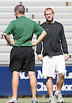 23 September 2007: San Francisco head coach Mark Carr. The University of North Carolina Tar Heels defeated the University of San Francisco Dons 2-0 at Koskinen Stadium in Durham, North Carolina in an NCAA Division I Women's Soccer game, and part of the annual Duke Adidas Classic tournament.