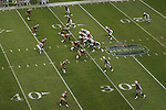 The line of scrimmage during the Arizona Cardinals against the San Fransisco 49ers at Estadio Azteca in Mexico City, Mexico on October 2, 2005.  The Cardinals won 31-14 in front of a NFL record crowd of 103,467.