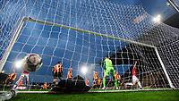 Lincoln City's Lewis Montsma, right, celebrates scoring his side's third goal<br /> <br /> Photographer Chris Vaughan/CameraSport<br /> <br /> Carabao Cup Second Round Northern Section - Bradford City v Lincoln City - Tuesday 15th September 2020 - Valley Parade - Bradford<br />  <br /> World Copyright © 2020 CameraSport. All rights reserved. 43 Linden Ave. Countesthorpe. Leicester. England. LE8 5PG - Tel: +44 (0) 116 277 4147 - admin@camerasport.com - www.camerasport.com