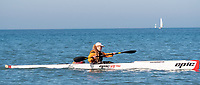 "Nicole Doyon, of Sarnia prepares her 19 foot 27 pound surf ski kayak for a chilly, but comfortable workout on Lake Huron, Sunday Dec. 16. ""There's no ice and it's a beautiful day,"" said the artist, photographer and martial arts instructor. Nicole trains whenever possible for marathon racing held around Ontario. She has been kayaking for eight years and started racing two years ago."