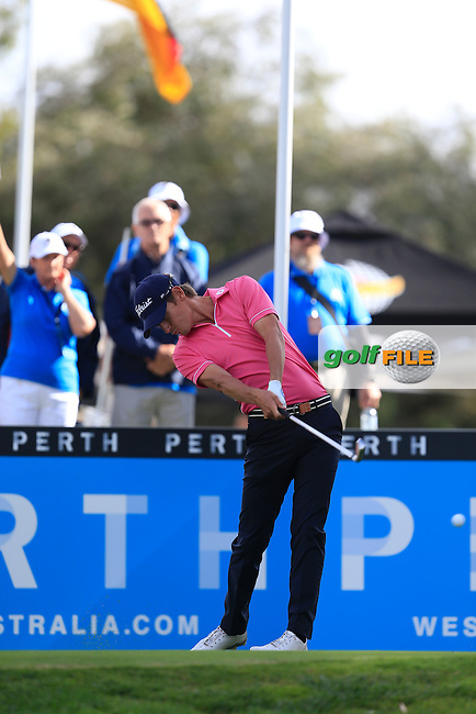 Jason Scrivener (AUS) on the 10th during Round 3 of the ISPS HANDA Perth International at the Lake Karrinyup Country Club on Saturday 25th October 2014.<br /> Picture:  Thos Caffrey / www.golffile.ie