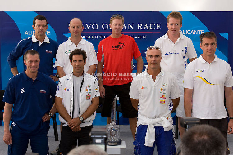 - SKIPPERS PRESS CONFERENCE VOLVO OCEAN RACE 2008-2009
