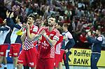 12.01.2018., Croatia, Spaladium Arena, Split - European Handball Championship, Group B, 1st Round, Croatia - Serbia.  Luka Stepancic, Domagoj Duvnjak. <br /> <br /> Foto &copy; nordphoto / Ivo Cagalj/PIXSELL