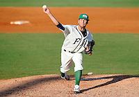 Florida International University right handed pitcher Michael Ellis (25) plays against Florida Atlantic University. FAU won the game 9-5 on March 17, 2012 at Miami, Florida.