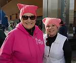 Linda Good and Carol Sturgeon during the 3rd Annual Reno Women's March in downtown Reno on Saturday, January 19, 2019.