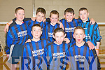 GAMES: The Kilgarven youth club enjoying the KDYS games in the Aura Killarney sports and leisure centre on Sunday front l-r: Conor Shortall, Gerard Donovan and Michael Godfrey. Back l-r: Shane Murphy, Sean O'Sullivan, Michael Casey, Sean Godfrey and Jack Healy Rae.