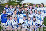 The Castleisland Desmonds u14 ladies team received new jerseys from Pat Kearney last Tuesday evening. Front row: l-r Ciara Griffin, Sharon McEllistrim,.Amy Nolan, Megan Hartnett, Kathy Hartnett, Grainne Bergen, Aine Kennedy, Michelle Murphy, back row Roisin McCarthy, Niamh Prenderville,.Elaine OConnor, Aileen Lynch, Aine OConnor, Niamh OMahony, Blaitnaid OCallaghan, Martin Murphy, Amy Broderick, Rachel OSullivan,.Eilis Lynch, Brid Lenihan, Pat Kearney, Hollie Horan, Jennifer Drumm, Ciara OConnell and Nicola Lynch.