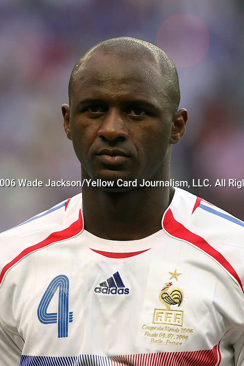 09 July 2006: Patrick Vieira (FRA).  Italy defeated France in a penalty kick shoot-out at the Olympiastadion in Berlin, Germany in match 64, the championship game, of the 2006 FIFA World Cup Finals.
