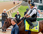 LOUISVILLE, KENTUCKY - MAY 01: Trainer Bob Baffert watches as Game Winner heads to the track to prepare for the Kentucky Derby at Churchill Downs in Louisville, Kentucky on May 1, 2019. Scott Serio/Eclipse Sportswire/CSM