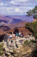 Tourists at the Mather Point at the south rim of Grand Canyon, Arizona, USA
