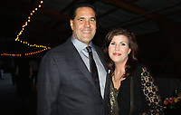 NWA Democrat-Gazette/CARIN SCHOPPMEYER Gentleman of Distinction 2017 Michael Cross and Pam Hays enjoy the VIP reception.