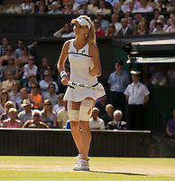 Agnieszka Radwanska<br /> <br /> Tennis - The Championships Wimbledon  - Grand Slam -  All England Lawn Tennis Club  2013 -  Wimbledon - London - United Kingdom - Thursday  4th July 2013. <br /> &copy; AMN Images, 8 Cedar Court, Somerset Road, London, SW19 5HU<br /> Tel - +44 7843383012<br /> mfrey@advantagemedianet.com<br /> www.amnimages.photoshelter.com<br /> www.advantagemedianet.com<br /> www.tennishead.net