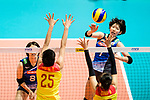 Yuki Ishii of Japan (R) attacks during the match between China and Japan on May 30, 2018 in Hong Kong, Hong Kong. (Photo by Power Sport Images/Getty Images)