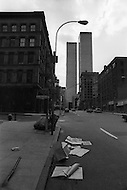 New York CIty, New York, 01 OCT 1975: New York was bankrupt and in shambles. The World Trade Center construction had just been completed and the building was not occupied.