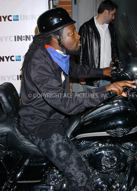 WWW.ACEPIXS.COM . . . . .  ....NEW YORK, OCTOBER 7, 2004....Wyclef Jean attends the IN:NYC American Express Card Launch.....Please byline: AJ Sokalner - ACE PICTURES..... *** ***..Ace Pictures, Inc:  ..Alecsey Boldeskul (646) 267-6913 ..Philip Vaughan (646) 769-0430..e-mail: info@acepixs.com..web: http://www.acepixs.com