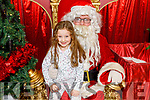 Kaylee O'Sullivan (Tralee) meeting Santa Claus in the Manor West Shopping Centre on Saturday.