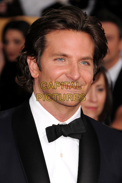 Bradley Cooper.Arrivals at the 19th Annual Screen Actors Guild Awards at the Shrine Auditorium in Los Angeles, California, USA..27th January 2013.SAG SAGs headshot portrait black white blue bow tie shirt tuxedo.CAP/ADM/BP.©Byron Purvis/AdMedia/Capital Pictures