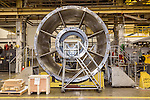 July 6, 2016. Greenville, South Carolina. <br />  Parts for various GE gas turbine models await assembly at the plant outside Greenville, SC.<br />  At the General Electric Gas Turbine factory, engineers  design, produce, test and repair gas turbines for generating electricity. These turbines weigh more than 900,000 pounds and can create internal combustion temperatures up to 2,900 degrees F. Depending on the model, one of the GE turbines can produce enough electricity for half a million American households.