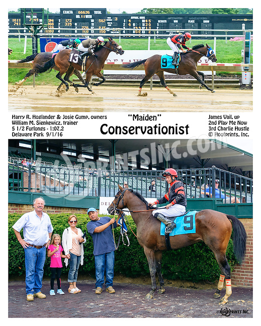 Conservationist winning at Delaware Park on 9/1/16