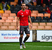 Lincoln City's Harry Toffolo during the pre-match warm-up<br /> <br /> Photographer Andrew Vaughan/CameraSport<br /> <br /> The EFL Sky Bet League Two - Port Vale v Lincoln City - Saturday 13th October 2018 - Vale Park - Burslem<br /> <br /> World Copyright © 2018 CameraSport. All rights reserved. 43 Linden Ave. Countesthorpe. Leicester. England. LE8 5PG - Tel: +44 (0) 116 277 4147 - admin@camerasport.com - www.camerasport.com