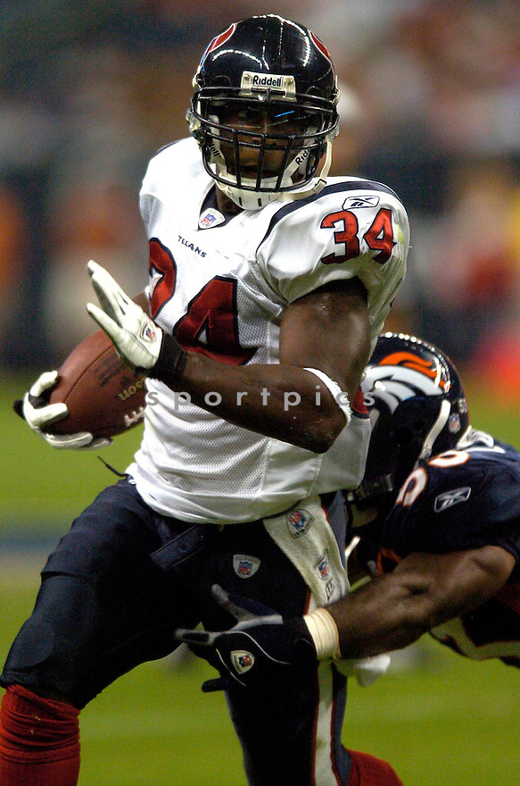 Vernad Morency, of the Houston Texans, in action against the Denver Broncos on August 13, 2005...Denver wins 20-14..David Durochik / SportPics
