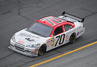 Feb 13, 2008; Daytona Beach, FL, USA; Nascar Sprint Cup Series driver Jeremy Mayfield (70) during practice for the Daytona 500 at Daytona International Speedway. Mandatory Credit: Mark J. Rebilas-US PRESSWIRE