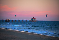 Wind Surfers at Huntington Beach Pier