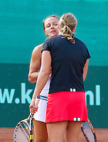2013-08-17, Netherlands, Raalte,  TV Ramele, Tennis, NRTK 2013, National Ranking Tennis Champ,  Winners: Danielle Harmsen and Olga Kalyuzhnaya(L)<br /> <br /> Photo: Henk Koster