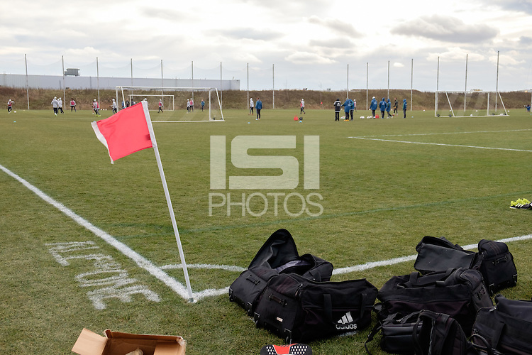 Toronto, ON, Canada - Thursday Dec. 08, 2016: Seattle Sounders FC during training prior to MLS Cup at the Kia Training Grounds.