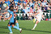 Kansas City, MO - Sunday September 11, 2016: Heather O'Reilly during a regular season National Women's Soccer League (NWSL) match between FC Kansas City and the Chicago Red Stars at Swope Soccer Village.