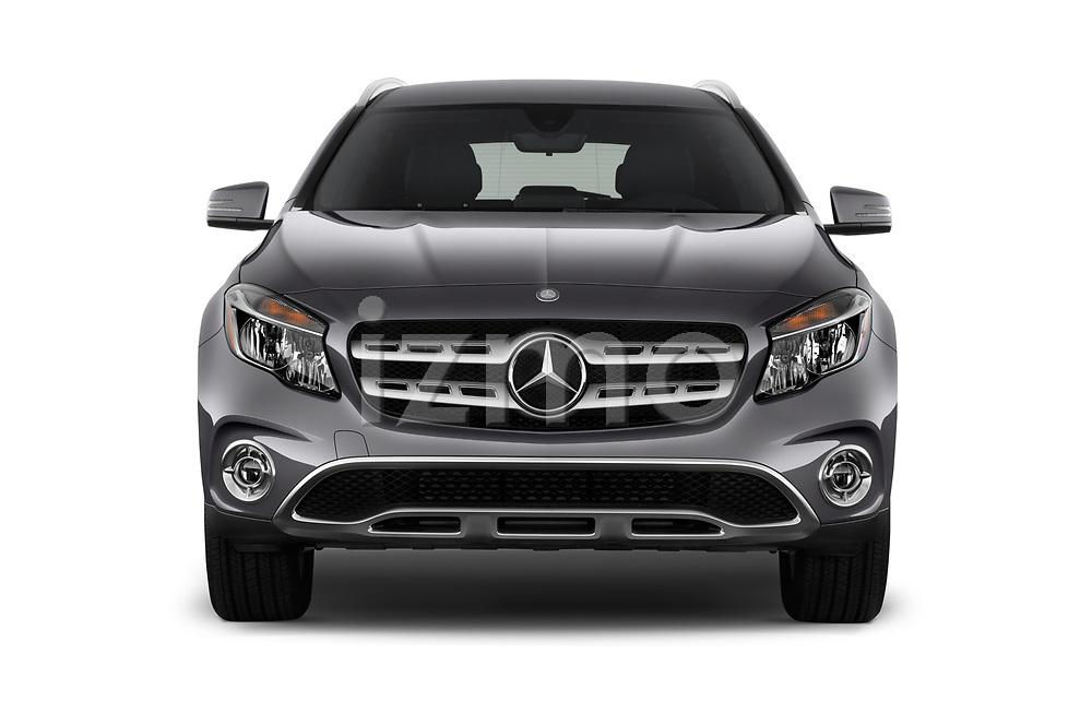 Car photography straight front view of a 2019 Mercedes Benz GLA 250 4MATIC 5 Door SUV
