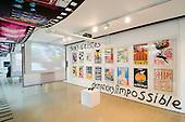 London Print Studio during the poster exhibition 'AgitPop: activist graphics, images, pop culture '