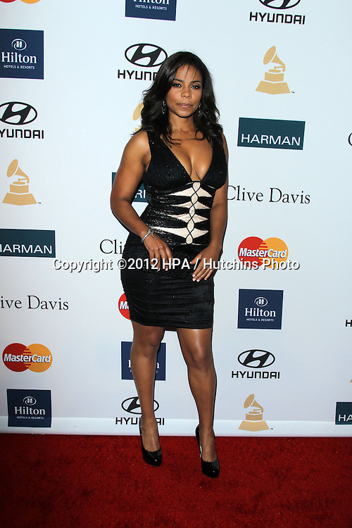 LOS ANGELES - FEB 11:  Sanaa Lathan arrives at the Pre-Grammy Party hosted by Clive Davis at the Beverly Hilton Hotel on February 11, 2012 in Beverly Hills, CA
