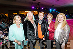 Vera Power, Mary Jennings, Janice Quirke Mary and Sandra Kearney, pictured at the Kerins O'Rahillys Strictly Come Dancing, held at the Brandon Hotel, Tralee on Saturday night last.
