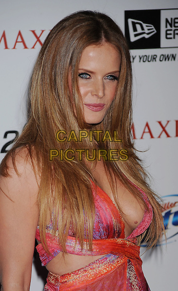 REBECCA MADER.The MAXIM HOT 100 Party held at Eden in Hollywood, California, USA..May 11th, 2011.half length pink purple dress low cut neckline cleavage mole.CAP/ROT/TM.©Tony Michaels/Roth Stock/Capital Pictures