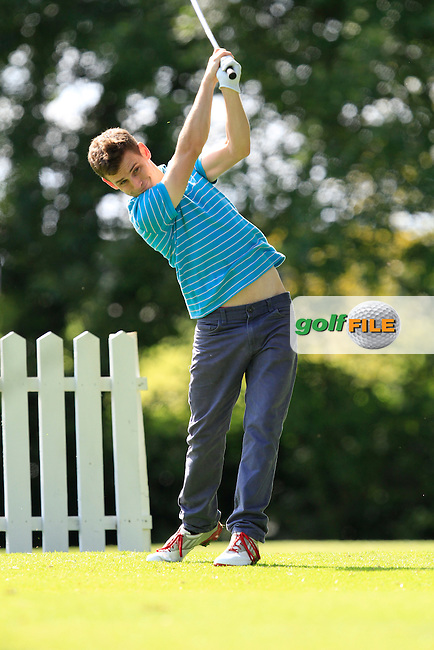 Kevin Metcalfe (New Forest) on the 8th tee during round 2 of The Mullingar Electrical Scratch Trophy in Mullingar Golf Club on Monday 4th August 2014.<br /> Picture:  Thos Caffrey / www.golffile.ie