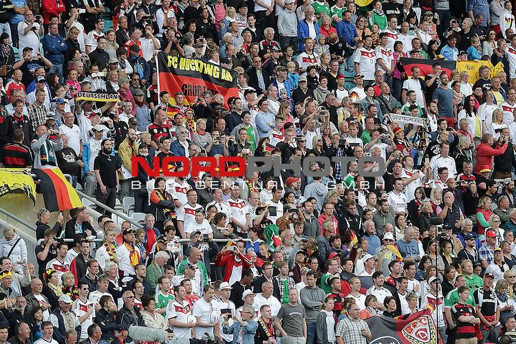 EM 2015 Qualifikationsspiel, Gibraltar vs. Deutschland<br /> Deutsche Fankurve<br /> <br /> <br /> Foto &copy; nordphoto /  Bratic