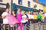 CHARITABLE  FASHION: Michael 'Fox' O'Connor, Mary McDonnell, Ann Collins and Chris Griffin with staff and friends of Denise's Hair Salon in Rock St., Tralee who are organising a fashion and hair show this Sunday in aid of the Irish Cancer Society.