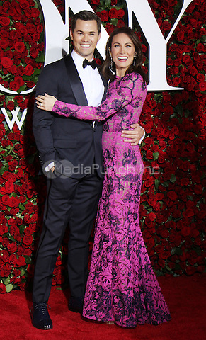 NEW YORK, NY-June 12: Andrew Rannells, Laura Benanti  at the 70th Annual Tony Awards at the Beacon Theatre in New York. NY June 12, 2016. Credit:RW/MediaPunch