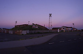 Darkness falls on Bloomfield Road the night before demolition work commenced......© Phill Heywood.tel 07806 775649