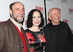 F. Murray Abraham, Bebe Neuwirth & Terrence McNally attending the Opening Night Party for the Manhattan Theatre Club's 'Golden Age' at Beacon Restaurant in New York City on December 4, 2012.