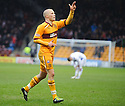 MOTHERWELL'S HENRIK OJAMAA CELEBRATES AFTER HE SCORES MOTHERWELL'S FOURTH GOAL