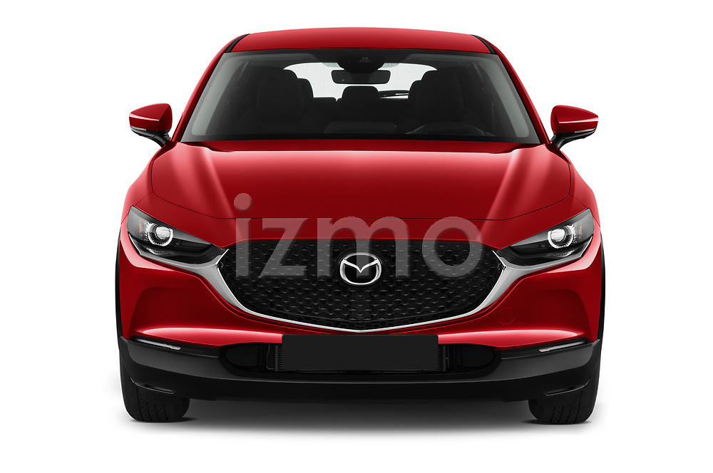 Car photography straight front view of a 2020 Mazda CX-30 Select 5 Door SUV Front View