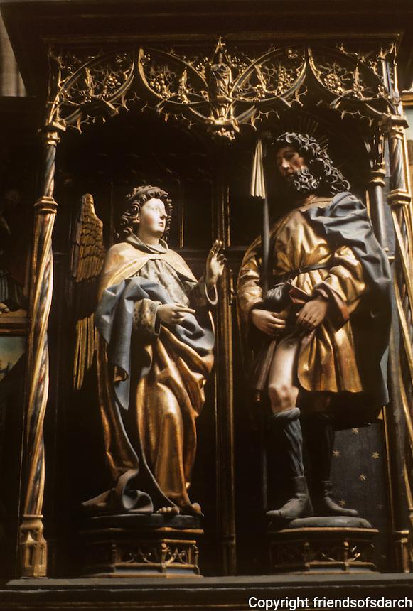 Nuremberg: St. Lorenz-Kirche, 1250. Gothic style. Photo '87.
